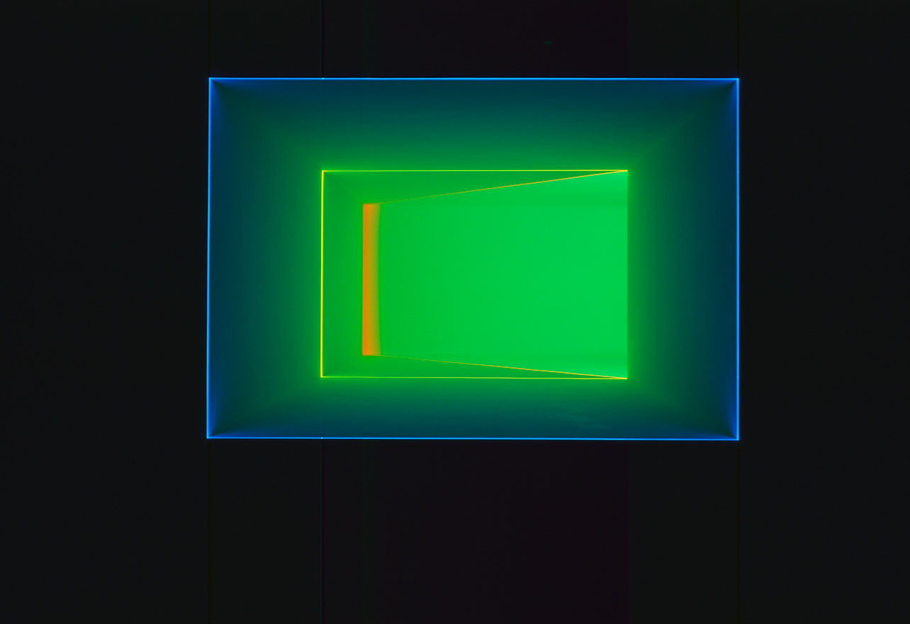 Key Lime|1994|projected light|dimensions variable|©James Turrell